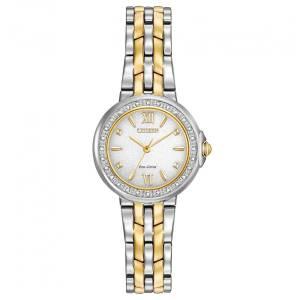 [シチズン]Citizen  Diamond TwoTone Bracelet Band Silver Dial Watch EM0444-56A レディース