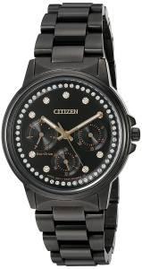 [シチズン]Citizen  'Silhouette' Quartz Stainless Steel Casual Watch, Color:Black FD2047-58E