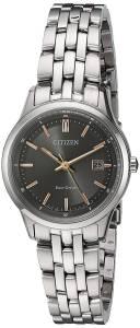 [シチズン]Citizen 'EcoDrive Bracelet' Quartz Stainless Steel Watch, Color:SilverToned EW2400-58H