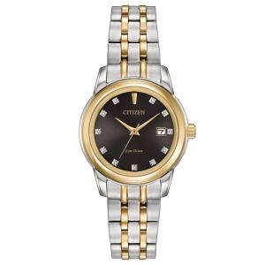 [シチズン]Citizen 腕時計 EcoDrive TwoTone Crystal Watch w/ Date EW2394-59E [逆輸入]