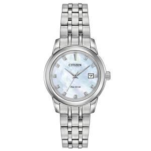 [シチズン]Citizen 腕時計 EcoDrive MotherofPearl Crystal Watch w/ Date EW2390-50D [逆輸入]