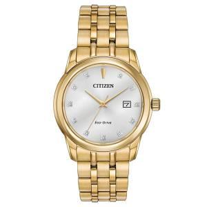 [シチズン]Citizen 腕時計 EcoDrive GoldTone Crystal Watch w/ Date BM7342-50A メンズ