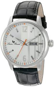 [ルシアン ピカール]Lucien Piccard 'Milanese' Quartz Stainless Steel and Leather LP-40027-02S