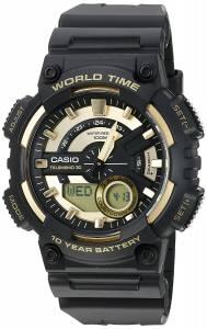 [カシオ]Casio 腕時計 'Heavy Duty' Quartz Resin Watch, Color:Black AEQ110BW-9AV メンズ