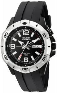 [カシオ]Casio 腕時計 Super Illuminator Analog Black Resin Watch MTD1082-1AV メンズ