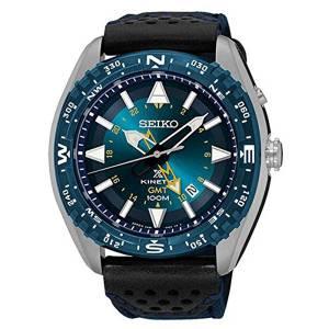 [セイコー]Seiko Watches Seiko Prospex Kinetic GMT Stainless Nylon/Leather Band Blue Dial SUN059