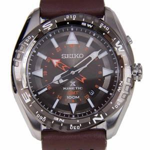 [セイコー]Seiko Watches Seiko Prospex Kineti Stainless Steel Brown Leather Band Brown SUN061