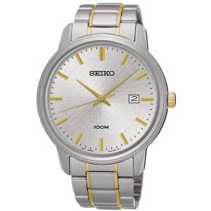 [セイコー]Seiko Watches  Seiko Stainless Steel TwoTone Bracelet Band Silver Dial Watch SUR197