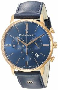 [モーリス ラクロア]Maurice Lacroix 'Eliros' Quartz Gold and Leather EL1098-PVP01-411-1