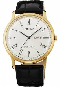 [オリエント]Orient Capital 2 Classic Design Slim Quartz Roman Dial Dress Watch FUG1R007W