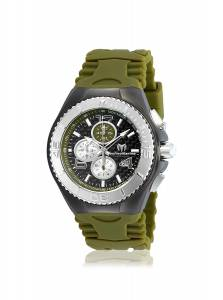 [テクノマリーン]TechnoMarine TechnoMarine Green Silicone Band Steel Case Quartz TM-115298