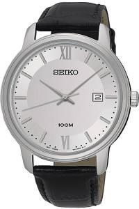 [セイコー]Seiko Watches SEIKO ,Men's Date,Stainless Steel Case, Leather Strap,Hardlex SUR201P1
