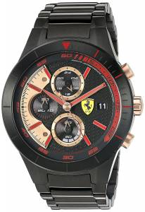 [フェラーリ]Ferrari 腕時計 830305 'RED REV EVO CHRONO' Quartz Resin Watch 0830305