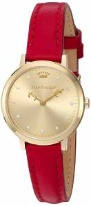 [ジューシークチュール]Juicy Couture  'LA Ultra Slim' Quartz GoldTone and Leather 1901454