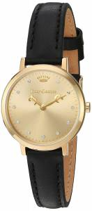 [ジューシークチュール]Juicy Couture  'LA Ultra Slim' Quartz GoldTone and Leather 1901452