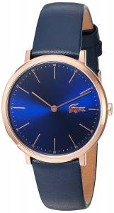 [ラコステ]Lacoste  Quartz Gold and Leather Automatic Watch, Color:Blue 2000950 レディース