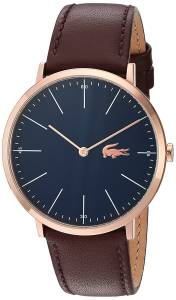 [ラコステ]Lacoste  Quartz Gold and Leather Automatic Watch, Color:Brown 2010871 メンズ