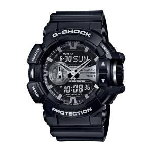 [カシオ]Casio  GShock Black and SilverTone Dial Resin Quartz Watch GA400GB1A GA400GB-1A