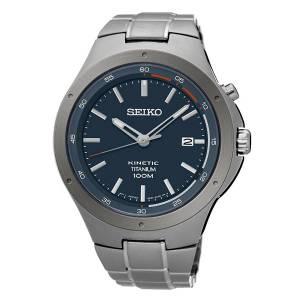 [セイコー]Seiko Watches  Seiko Kinetic SKA711 Blue Dial Titanium Band Watch SKA711P1 メンズ