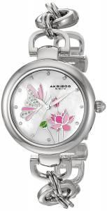 [アクリボス XXIV]Akribos XXIV Swarovski Crystal Landscaped White MotherofPearl Dial AK934SS