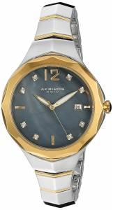 [アクリボス XXIV]Akribos XXIV Swarovski Crystal Accented Blue MotherofPearl Dial with AK932TTGB