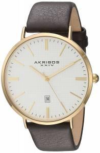 [アクリボス XXIV]Akribos XXIV GoldTone Case with GoldTone Accented Textured White Dial AK935YG
