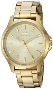 [ベスタル]Vestal  'Heirloom' Quartz Stainless Steel Casual Watch, Color:GoldToned HEI3M13