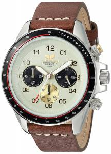 [ベスタル]Vestal  'ZR2' Quartz Stainless Steel and Leather Casual Watch, Color:Brown ZR2CL02