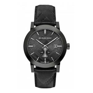 [バーバリー]Burberry 腕時計 Watch Swiss Made Black Leather BU9906 [並行輸入品]