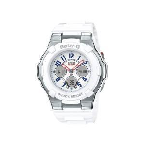 [カシオ]Casio BabyG's Tri Color White / White Resin Analog / Digital Quartz Watch BGA110TR-7B