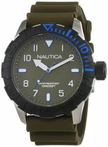 [ノーティカ]Nautica  'NSR 106' Quartz Stainless Steel and Silicone Casual Watch, NAD09518G
