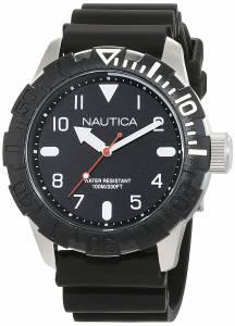 [ノーティカ]Nautica  'NSR 106' Quartz Stainless Steel and Silicone Casual Watch, NAD09519G