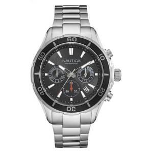 [ノーティカ]Nautica 'NST 12' Quartz Stainless Steel Casual Watch, Color:SilverToned NAD18525G