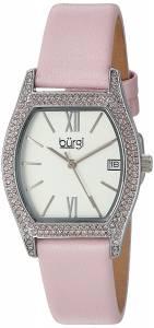 [バージ]Burgi  Matte White Dial with Swarovski Crystal Accented SilverTone Case on BUR166PK
