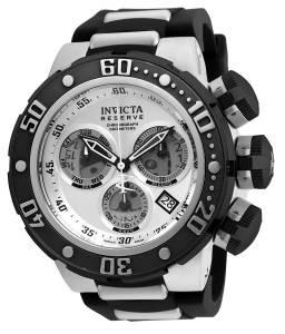 [インヴィクタ]Invicta Reserve Silver Dial Steel & Silicone Strap Chronograph Dive Watch 21640