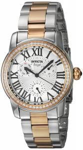 [インヴィクタ]Invicta Angel Rose GoldTone Steel Bracelet & Case Quartz SilverTone Dial 21708