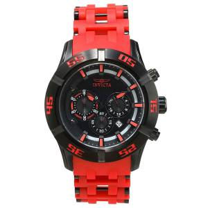 [インヴィクタ]Invicta Sea Spider Red Polyurethane Band Steel Case Quartz Black Dial 21821