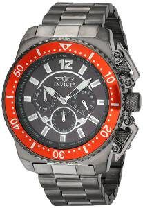 [インヴィクタ]Invicta  Pro Diver Gun Metal Steel Bracelet & Case Quartz Analog Watch 21957