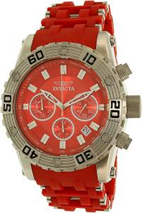 [インヴィクタ]Invicta Sea Spider Red Polyurethane Band Steel Case Swiss Quartz Analog 22088