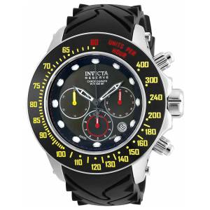 [インヴィクタ]Invicta Reserve Black Silicone Band Steel Case Swiss Quartz Analog Watch 22142