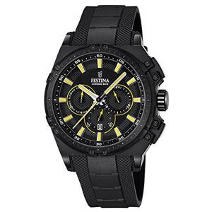 フェスティナ Festina CHRONO BIKE 2016 Men's Quartz Watch with Black Dial Chronograph F16971/3