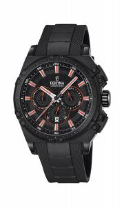 フェスティナ Festina CHRONO BIKE 2016 Men's Quartz Watch with Black Dial Chronograph F16971/4