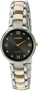 [シチズン]Citizen 'EcoDrive Diamond' Quartz Stainless Steel Dress Watch, Color:Two EX1464-54E
