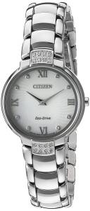 [シチズン]Citizen 'EcoDrive Diamond' Quartz Stainless Steel Dress Watch, EX1460-55A