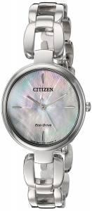 [シチズン]Citizen 'EcoDrive L' Quartz Stainless Steel Dress Watch, Color:SilverToned EM0420-54D