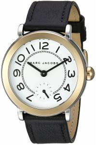 [マーク ジェイコブス]Marc Jacobs  Riley Black Leather Watch MJ1514 レディース