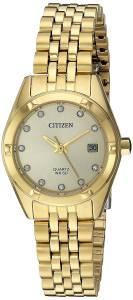 [シチズン]Citizen  Analog Quartz GoldToned Stainless Steel Watch EU6052-53P レディース