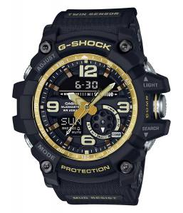 [カシオ]Casio GShock Master of G Mudmaster Series Black and GoldTone Watch GG1000GB1A GG1000GB-1A