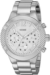 [ゲス]GUESS  Sporty SilverTone Stainless Steel Watch with Multifunction Dial and Pilot U0849L1