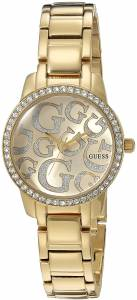 [ゲス]GUESS  Petite GoldTone Watch with Gold Dial , CrystalAccented Bezel and Stainless U0891L2